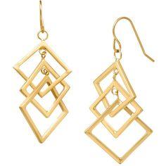 Geometric Interlocking Drop Earrings found on Polyvore