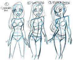 "tombancroft1: This was a sketch I created for the new art lesson ""POSING ANIMATED WOMEN"" by (Me) Tom Bancroft, only on Taught By A Pro! Its a follow up video lesson to ""Designing Animated Women"", also by me. Here's one of the drawings created in the lesson. taughtbyapro.com/courses/all/"