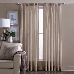 Wamsutta® Sheer 84-Inch Window Curtain Panel in Linen #Wamsutta