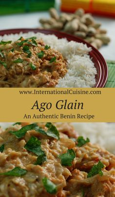 Ago glain is a crab in peanut sauce recipe from Benin.  It is full of flavor and a nice meal served with some rice. Enjoy!