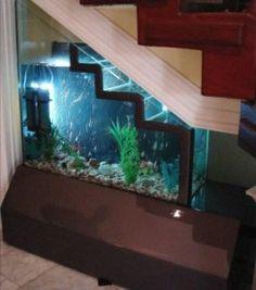 L'aquarium sous l'escalier : une jolie idée et pratique en plus !