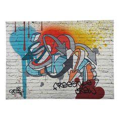 Tela graffiti multicolore 80 x 110 ...