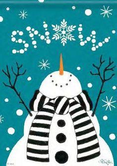 Snowman canvas!!