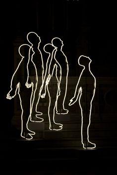 'Silhouettes' Neon, 2012 by artist Fanny Allié
