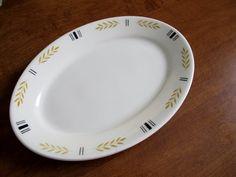 Vintage Homer Laughlin Small Platter Restaurant by pinkpainter