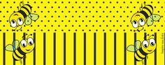 Inspire sua Festa ® | Blog Festa e Maternidade Bee Party, Peplum, Character, Bees, Custom Art, Paper Toys, Party Kit, Alphabet, Printable Tags