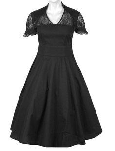1940s Kleid mit Spitze - Kleider - Vintage-Style - Ars-Vivendi