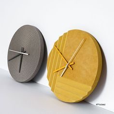 Groove Wall Clocks by Mpgmb. For more info and images visit www.prodeez.com #furniture #clock #creative #design #ideas #designer #mpgmb #interior #interiordesign #product #productdesign #instadesign #prodeez #furnituredesign #style #art #architecture #industrialdesign #architecture
