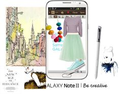 """""""Create a Downtown Muse look for a chance to win a Samsung GALAXY Note II!"""" by styleisland ❤ liked on Polyvore"""