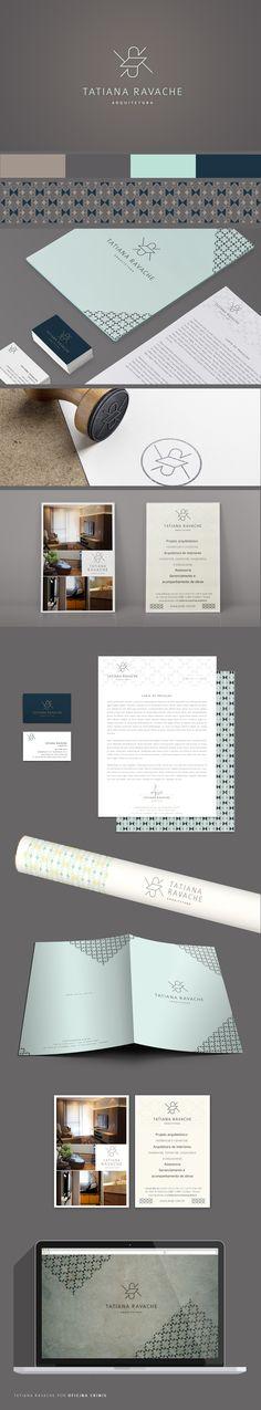 Identidade Visual do escritório Tatiana Ravache Arquitetura. Criado por Oficina Crinis | Arquitetura e Design