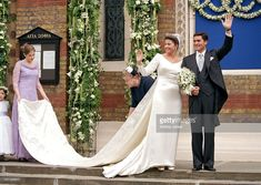 The Wedding Of Princess Alexia Of Greece And Carlos Morales Quintana At The St. Sophia Cathedral In London. (Photo by Antony Jones/UK Press via Getty Images)
