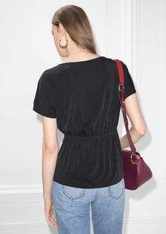 Other Stories image 3 of Cupro Top in Black