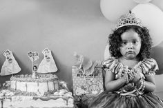 Little girl with a birthday cake.   #black #white #photography #kevinheslin #costarica #birthday #cake #costarica