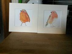 Watercolour robins