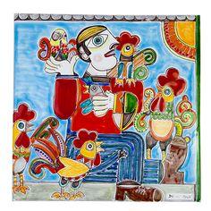 Ceramiche De Simone - Decorated Panels & Tiles - PI416PM-1 - Decoro1 30x30 cm