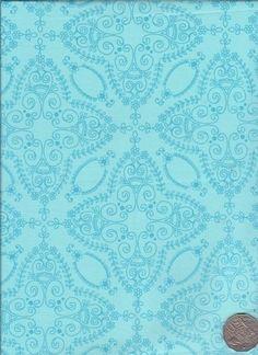 "Lace Aqua  ""Flower Child"" designed by Rosalie Dekker. (Quinlan)"