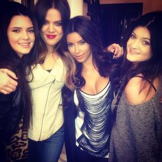 Kendall, me, Kim and Kylie!
