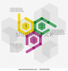 Modern design polygon arrows template