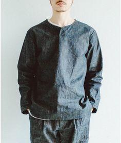 メンズシャツ(denim pullover)/かぐれ(kagure)