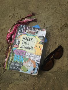 Wreck this journal at the beach. Finally finished the cover <3
