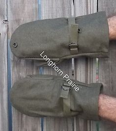 Austrian Army Winter Sniper Mittens Trigger Finger Survival Prepper Gloves Used