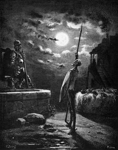 Gustave Doré (Héliodore-Joseph Pisan), Miguel de Cervantes, Don Quixote [Edoardo Perino], c. 1868.