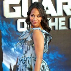 Pin for Later: Zoe Saldana Shows Off Her Baby Bump in London