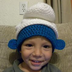 PDF Crochet Pattern Little Blue Smurf inspired. $5,50, via Etsy.