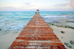 Playa Pier - A pier near the Grand Sunset Princess in Playa Del Carmen, Mexico - going here in December! Cozumel, Oh The Places You'll Go, Places To Travel, I Love The Beach, Mexico Travel, Riviera Maya, Vacation Spots, Vacation Travel, Cool Photos
