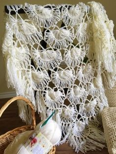 Living Well: Shanti's art work journal: Bridal shawl .. Hairpin lace with broomstick edging
