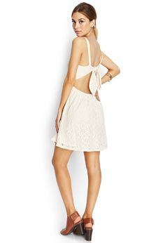 Delicate Crochet Lace Dress   FOREVER21 - 2000071778