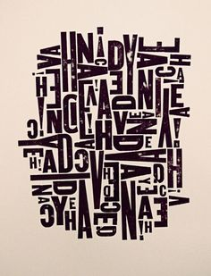 jumbled typography inspiration - Google Search