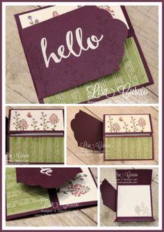 Label Flap Double Gate Fold, fancy fold, PDF tutorial, Lisa's Stamp Studio, www.lisasstampstudio.com