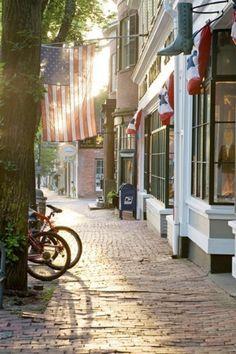 Cool Shops and Cobblestone Streets, Nantucket, Massachusetts, USA