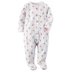 Baby Girl Cotton Snap-Up Sleep & Play   Carters.com