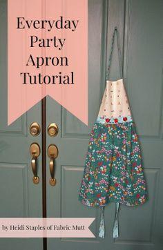 birchfabrics: Tutorial   Everyday Apron   by Heidi Staples   Featuring Everyday Party