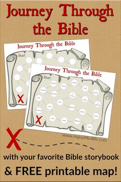 Use this FREE printable treasure map to keep track of your journey through the Bible with your kids! Works with any Bible story book. Family Bible Study, Bible Study For Kids, Bible Lessons For Kids, Kids Bible, Children's Bible, Scripture Verses, Sunday School Activities, Bible Activities, Sunday School Lessons