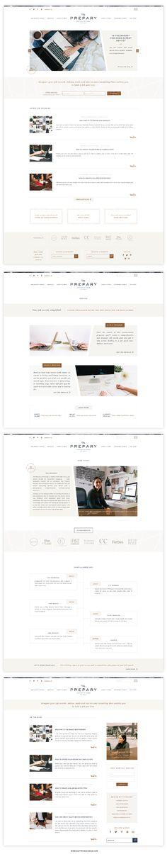 Logo and Website Launch :: The Prepary - Saffron Avenue : Saffron Avenue Website Layout, Blog Website Design, Wordpress Website Design, Wordpress Theme Design, Blog Designs, Website Ideas, Web Design Trends, Web Design Tips, Homepage Design