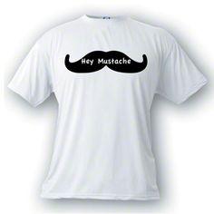 mens tshirts - Hey Mustache Tshirt, Impractical Jokers, Cotton Tshirt, Mens Tshirt