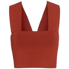 A.L.C. Ali Crop Top (4 995 UAH) ❤ liked on Polyvore featuring tops, strappy bandeau top, spaghetti-strap top, red bandeau top, strappy crop top and a.l.c top