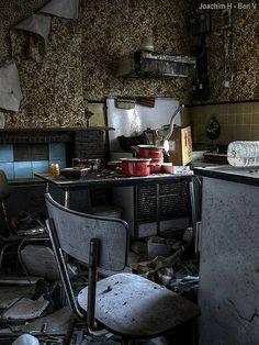 Abandoned House - Kitchen, via Flickr.