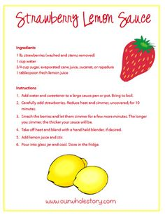 Strawberry Lemon Sauce