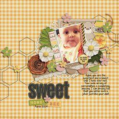 5/7/14 Gotta Pixel Digital Scrapbook LOTD: Today's digital scrapbook Layout of the Day is Sweet Honey Bee by emmyxlou www.gottapixel.net/