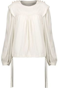 Etoile Isabel Marant Nathael Gathered Crepe Top