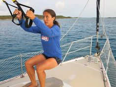 Hideaway sailing blog. Staying fit on board with trx