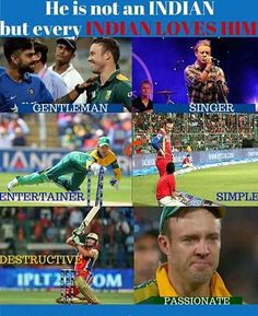 I m also an Indian but A B D is my fort player Cricket Sport, Cricket News, Crickets Meme, History Of Cricket, Ms Dhoni Wallpapers, Cricket Coaching, Cricket Quotes, Funny Fun Facts, Cricket Wallpapers