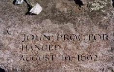 John Proctor's Salem Witch Trials Memorial marker - the first male accused witch