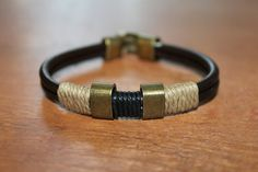 Men leather bracelet Black leather wrap men's by Oddoleather, $12.50