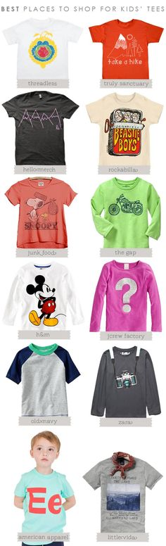 BEST PLACES TO SHOP FOR KIDS' TEES | Hellobee