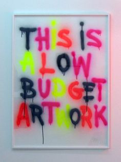 hurtbytheword: olivier kosta-théfaine THIS IS A LOW BUDGET ARTWORK, 2009 spray sur papier / spray on paper